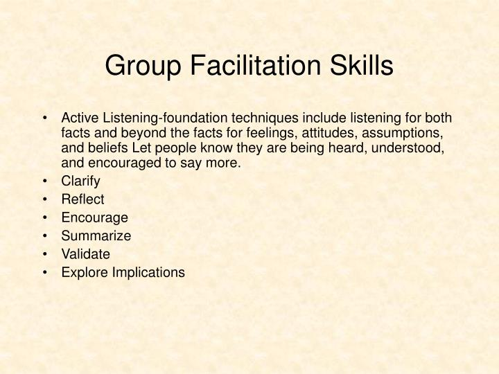 Group Facilitation Skills