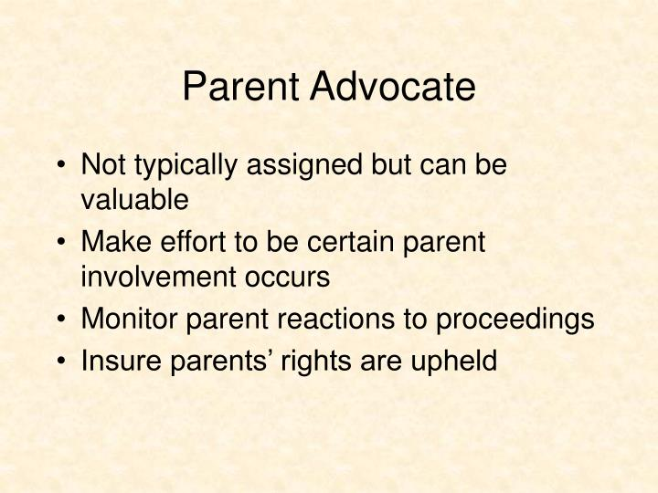 Parent Advocate
