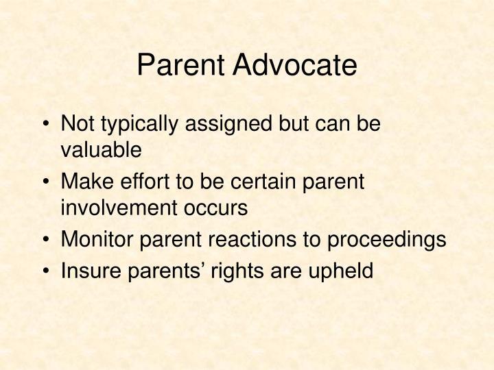 Parent Advocate