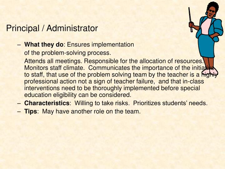 Principal / Administrator