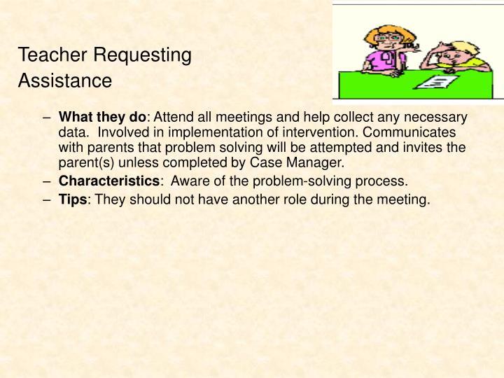 Teacher Requesting