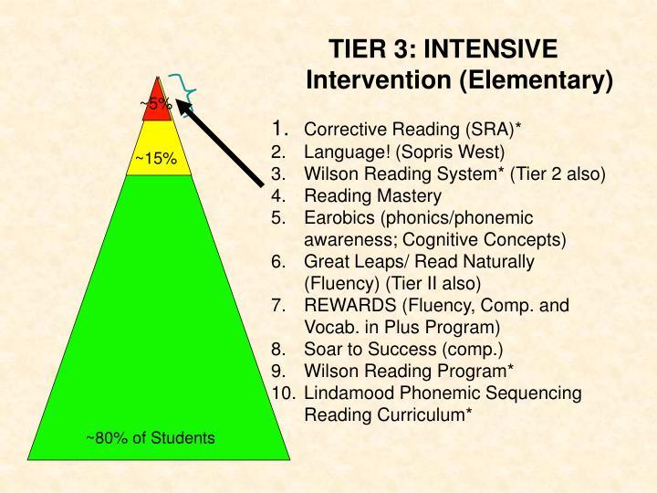 TIER 3: INTENSIVE Intervention (Elementary)