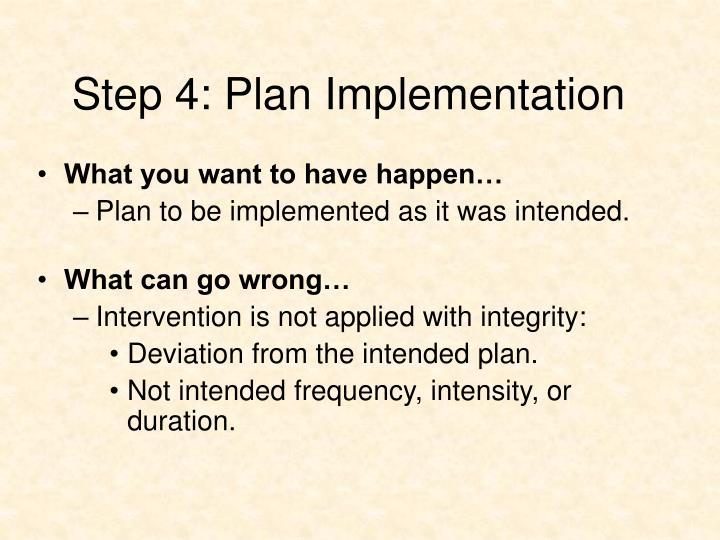 Step 4: Plan Implementation