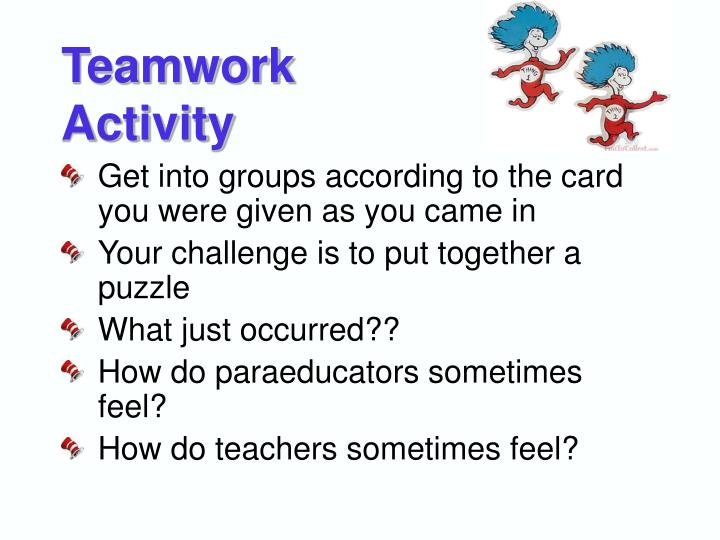 Teamwork activity