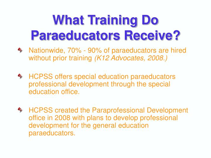 What Training Do Paraeducators Receive?