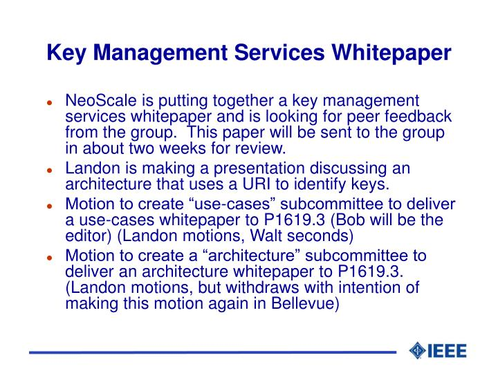 Key Management Services Whitepaper