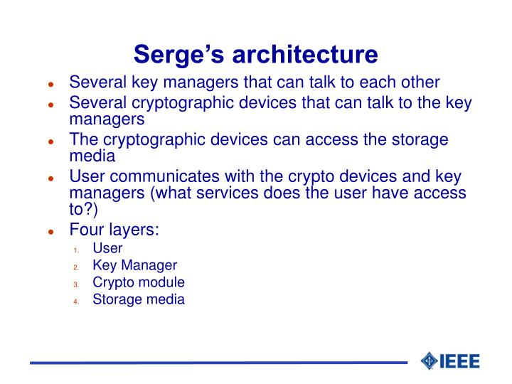 Serge's architecture