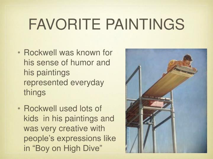 FAVORITE PAINTINGS