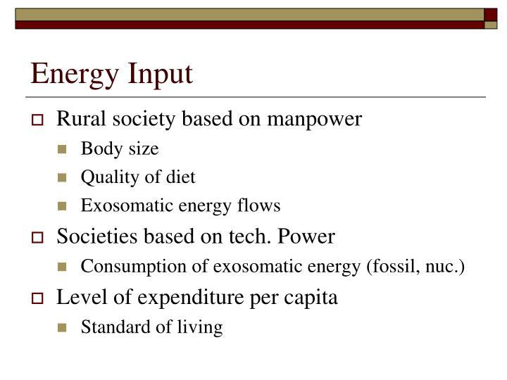Energy Input