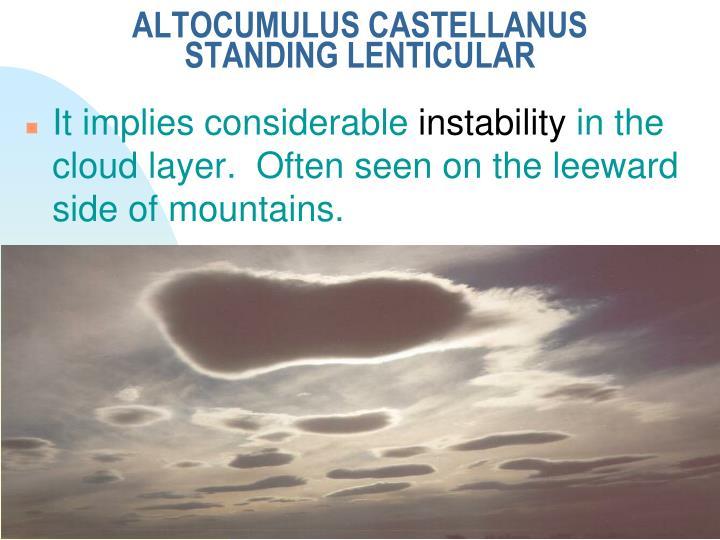ALTOCUMULUS CASTELLANUS STANDING LENTICULAR