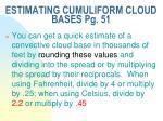 estimating cumuliform cloud bases pg 511
