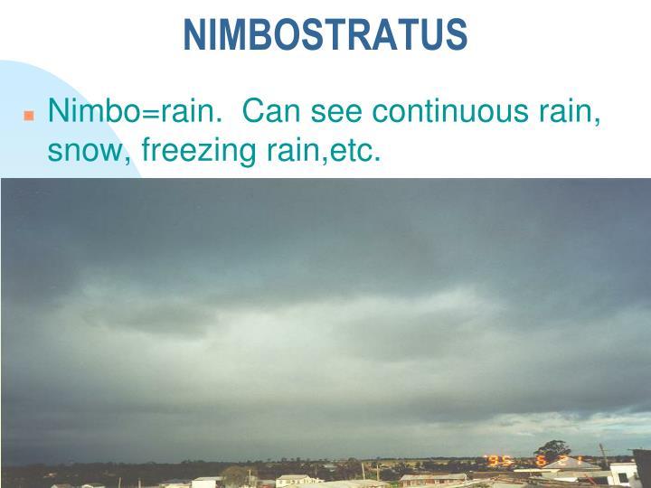 NIMBOSTRATUS