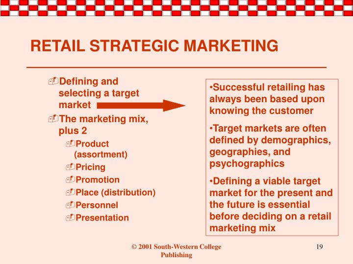 Defining and selecting a target market