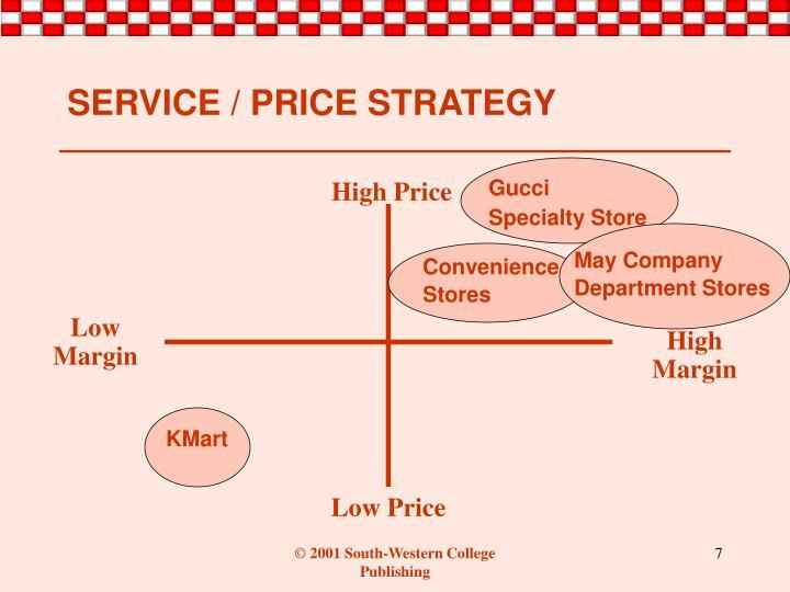 SERVICE / PRICE STRATEGY