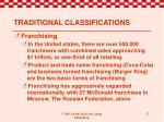 traditional classifications8