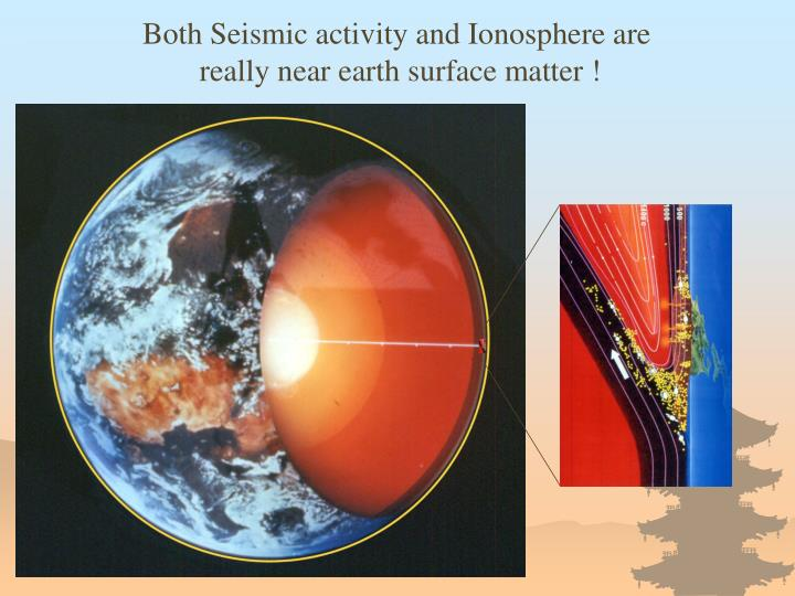 Both Seismic activity and Ionosphere are