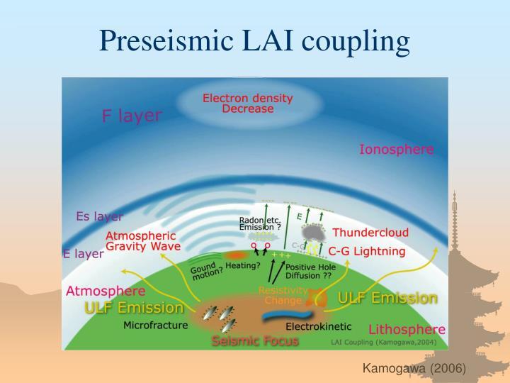 Preseismic LAI coupling