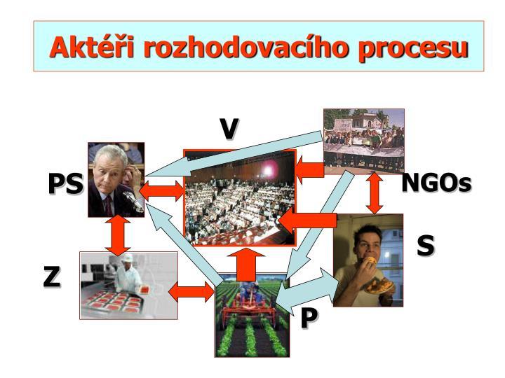 Aktéři rozhodovacího procesu