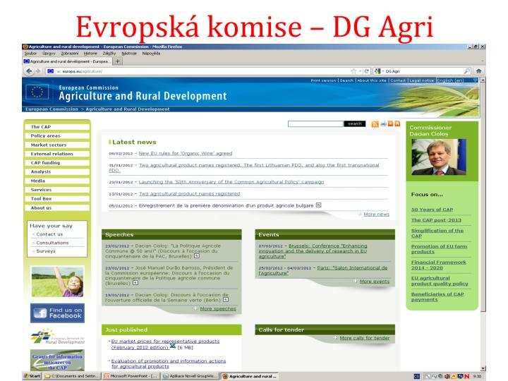 Evropská komise – DG Agri