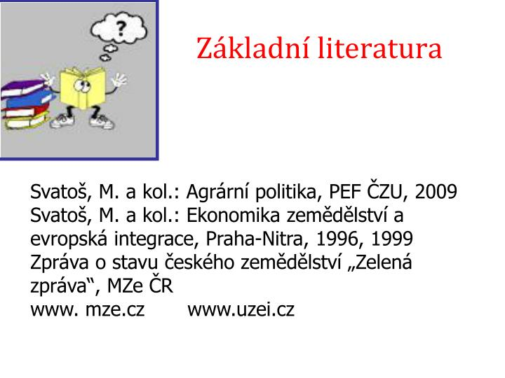 Základní literatura