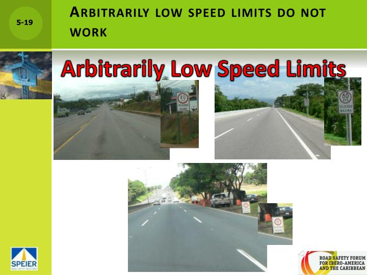 Arbitrarily low speed limits do not work