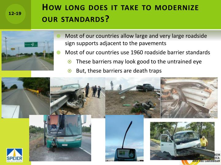 How long does it take to modernize our standards?