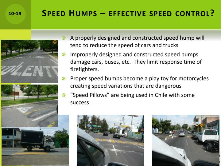Speed Humps – effective speed control?