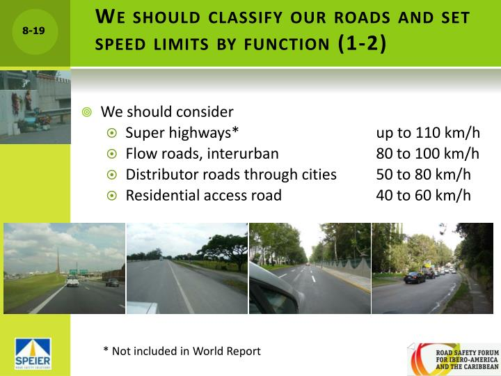 We should classify our roads and set speed limits by function (1-2)