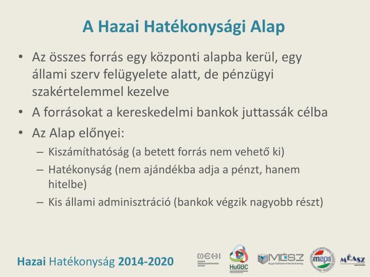 A Hazai Hatékonysági Alap