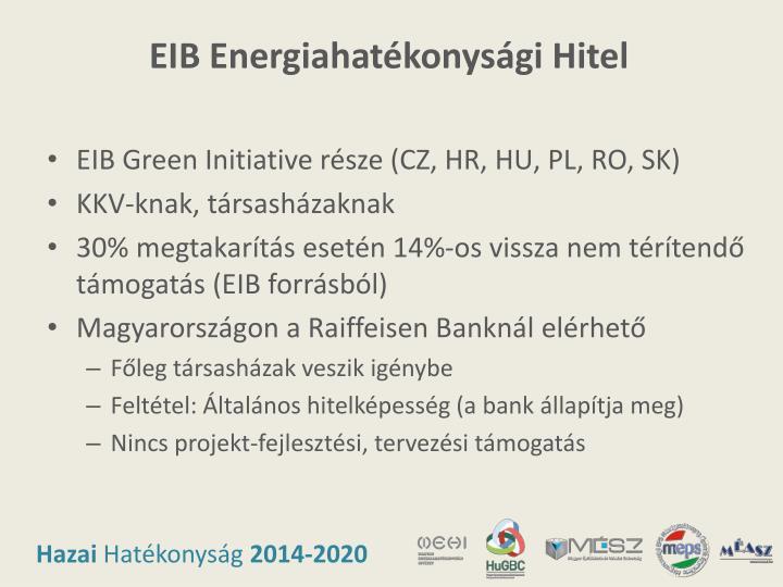 EIB Energiahatékonysági Hitel