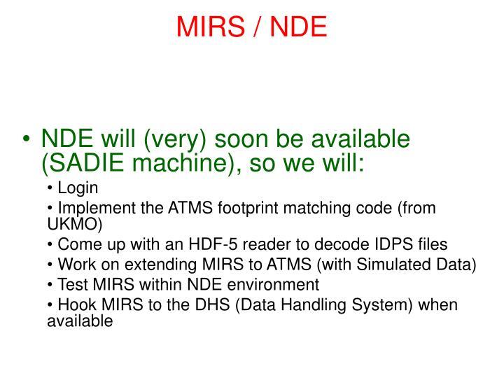 MIRS / NDE