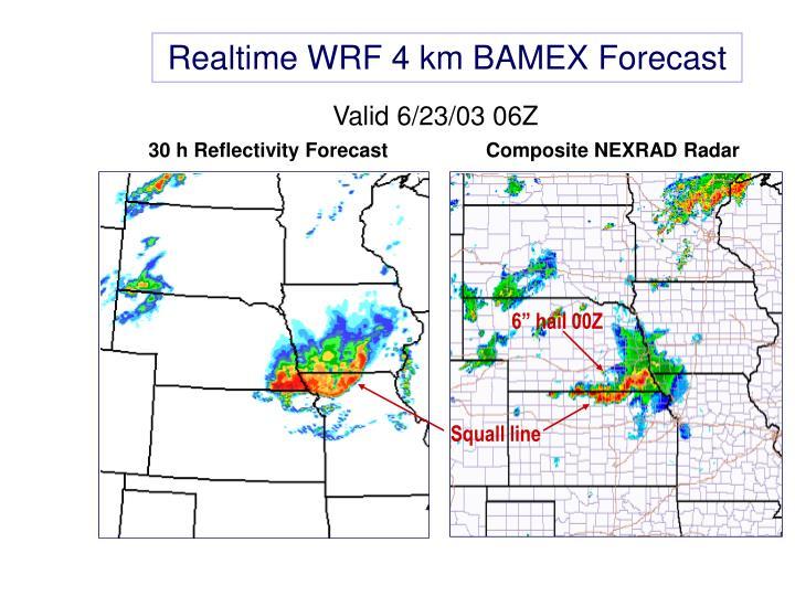 Realtime WRF 4 km BAMEX Forecast