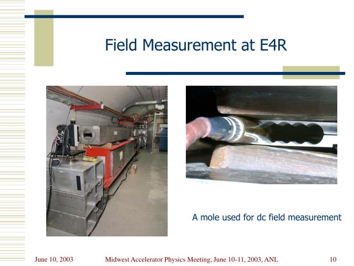 Field Measurement at E4R