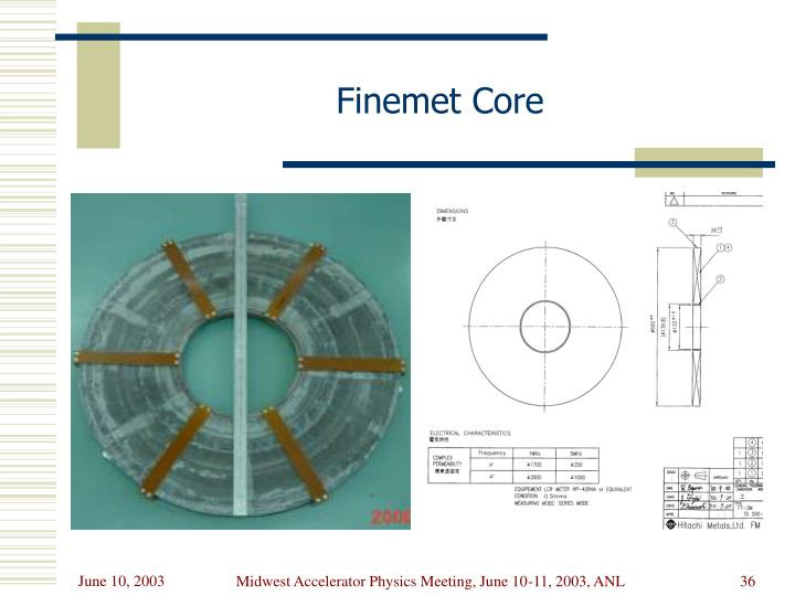 Finemet Core