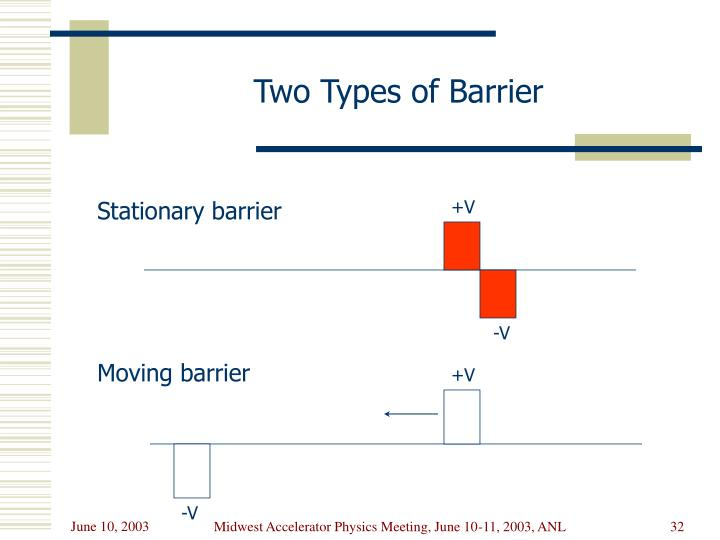 Two Types of Barrier