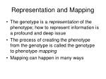 representation and mapping