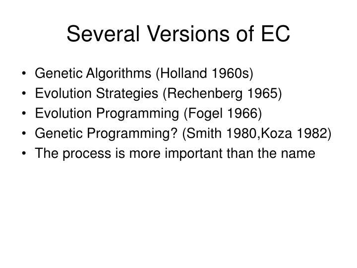 Several Versions of EC
