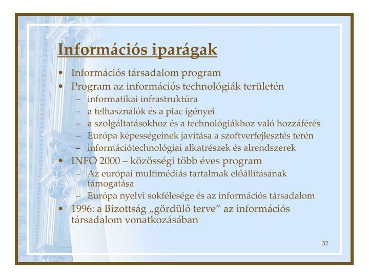Információs iparágak