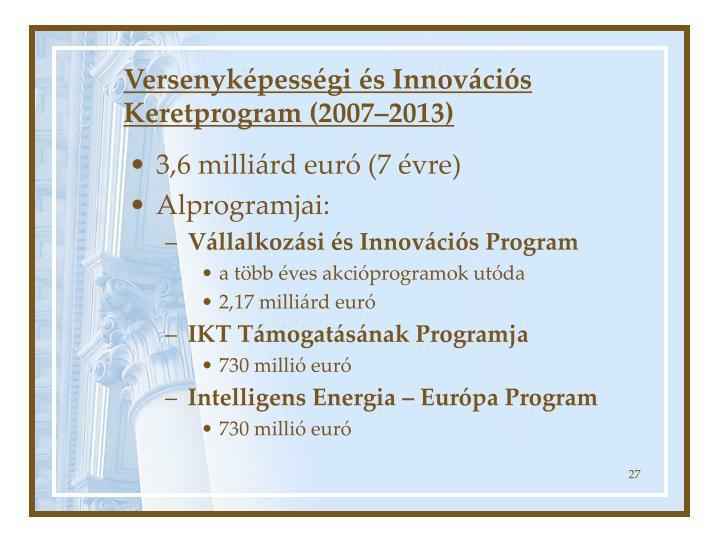 Versenyképességi és Innovációs Keretprogram (2007–2013)