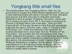 yongkang little small files