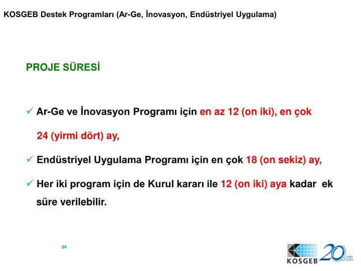 KOSGEB Destek Programları (Ar-Ge, İnovasyon, Endüstriyel Uygulama)