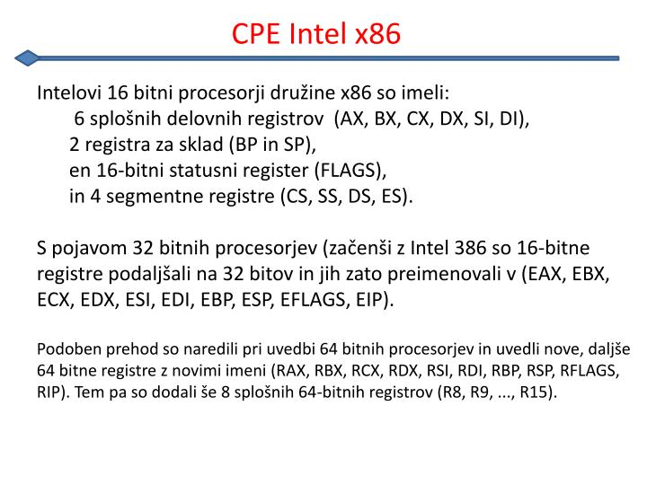 CPE Intel x86