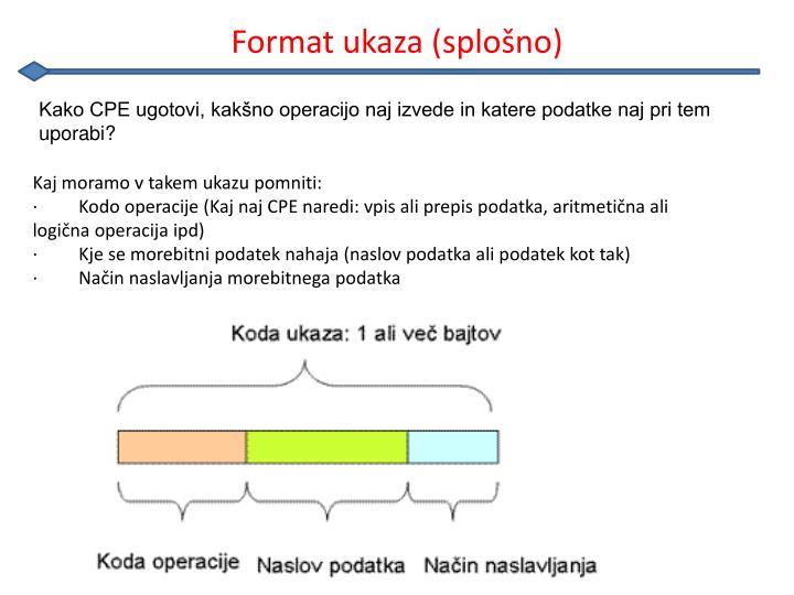 Format ukaza (splošno)