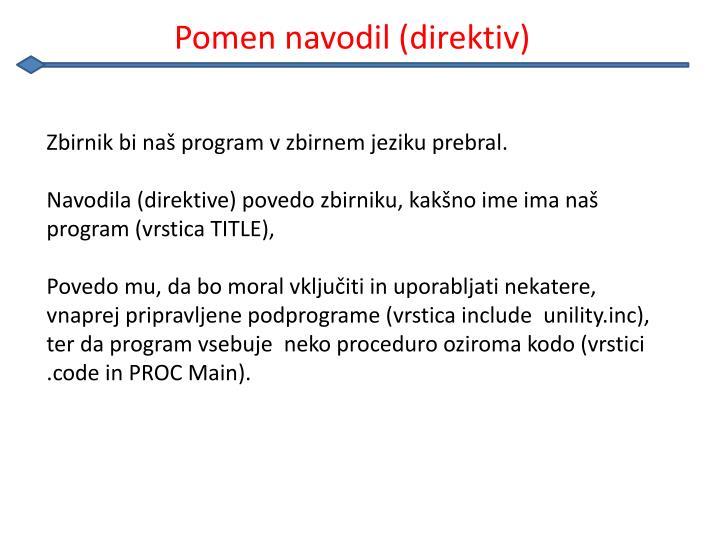 Pomen navodil (direktiv)