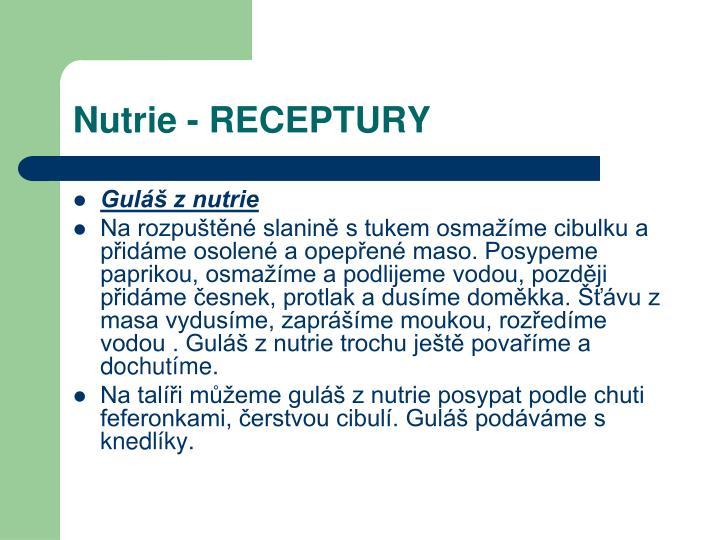 Nutrie - RECEPTURY