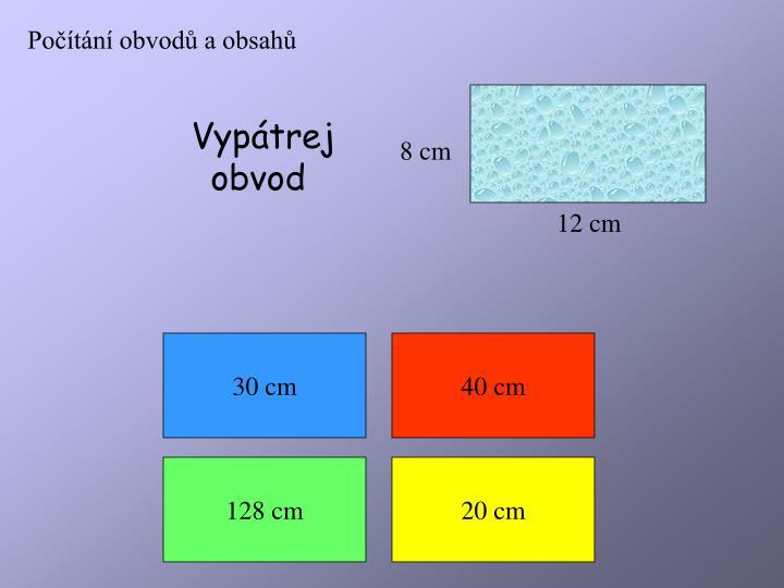 Počítání obvodů a obsahů