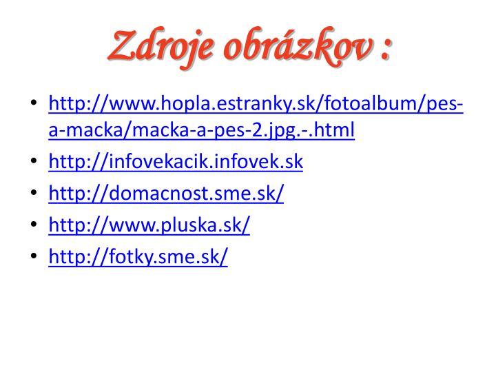 Zdroje obrázkov :
