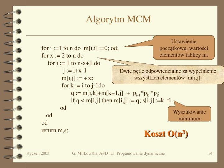 Algorytm MCM