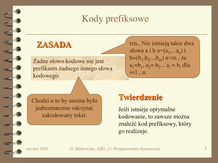 Kody prefiksowe
