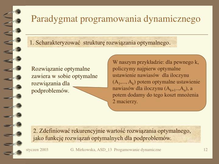 Paradygmat programowania dynamicznego